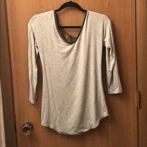 Grey top with back detail